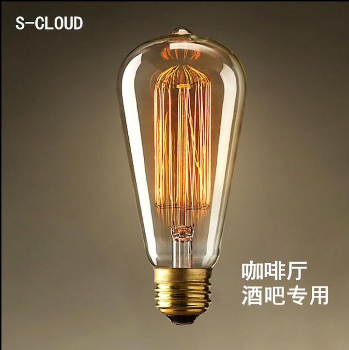 LED爱迪生复古钨丝灯泡奶嘴泡咖啡厅酒吧服装店创意风格装饰E27