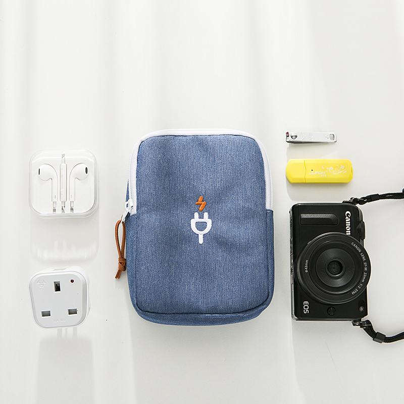 数码配件收纳包数据线装充电宝的小包便携手机电源袋耳机随身旅行
