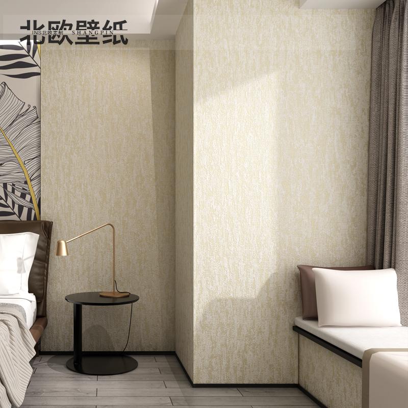 純色壁紙臥室無紡布素色客廳背景墻 ins 硅藻泥墻紙北歐 3D 灰色簡約