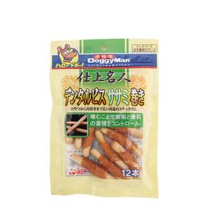 日本多格漫名仕系列磨牙饼干鸡肉卷12根 狗狗磨牙棒饼干