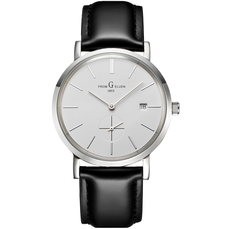 瑞士手表男表全自动机械表超薄时尚潮防水休闲日历商务简约男腕表