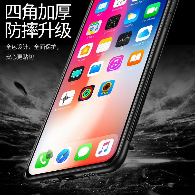iphone7手机壳苹果7plus套6/6s/8/plus新年玻璃壳i7/X/xs/xr/max软硅胶p情侣7P男女款iPhone x六七八潮牌猪年