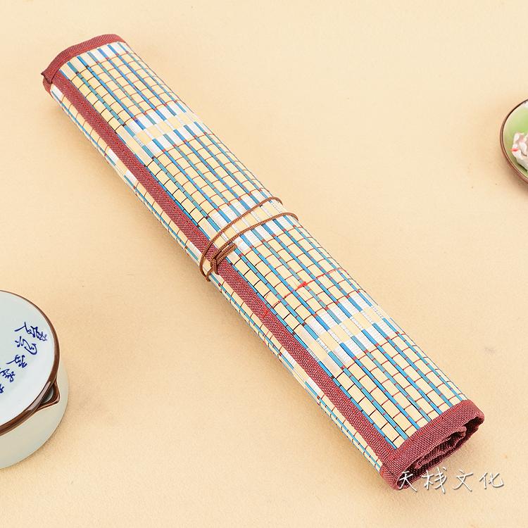 国画笔卷帘 放 装毛笔的笔帘 笔连卷 毛笔笔袋 毛笔竹帘