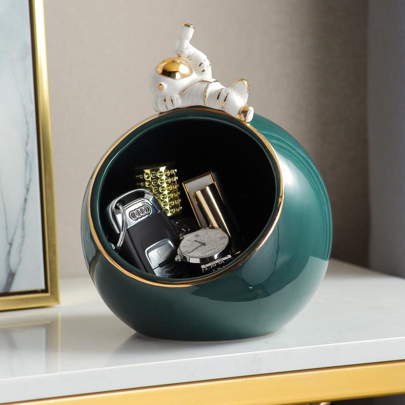 进门口玄关鞋柜钥匙收纳盒储物摆件桌面装饰品创意北欧轻奢风家居