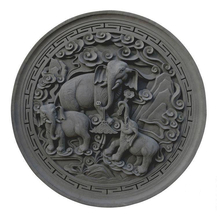 唐语砖雕仿古砖雕中式古建材料浮雕摆件四合院照壁影壁墙吉祥如意