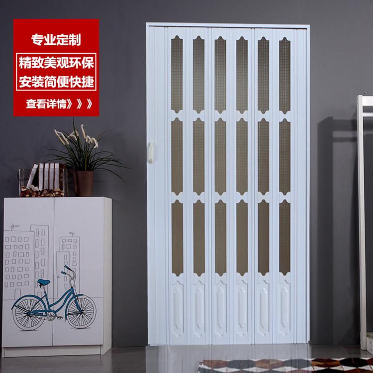 寰宇PVC折叠门透明玻璃推拉门商铺门厨房门卫生间门卧室门简易门