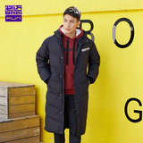 BMAI/Bimai men and women outdoor long down jacket autumn and winter windproof warmth thick casual down jacket