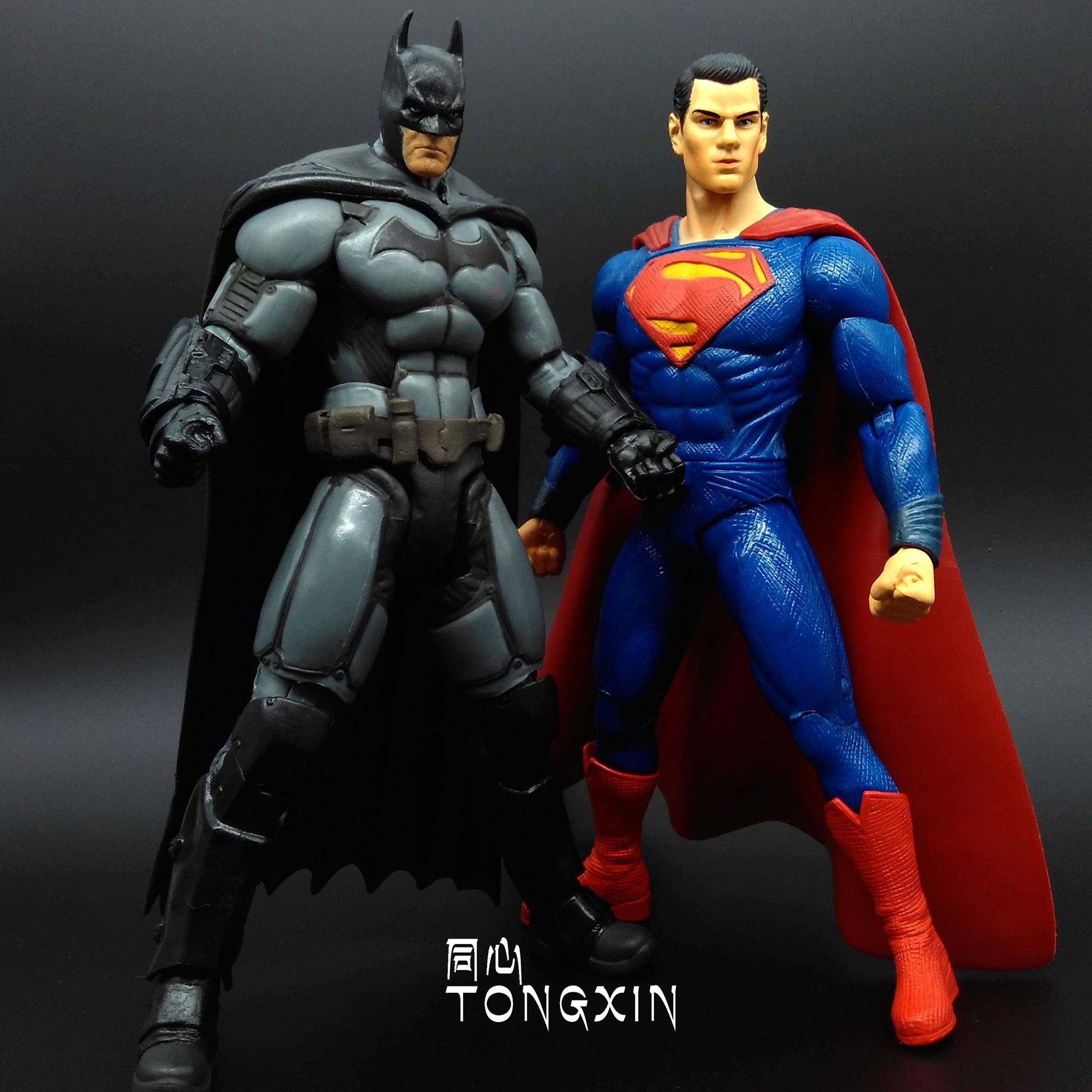 蝙蝠俠大戰超人正義聯盟 小丑擺件可動人偶手辦公仔玩具模型 DC