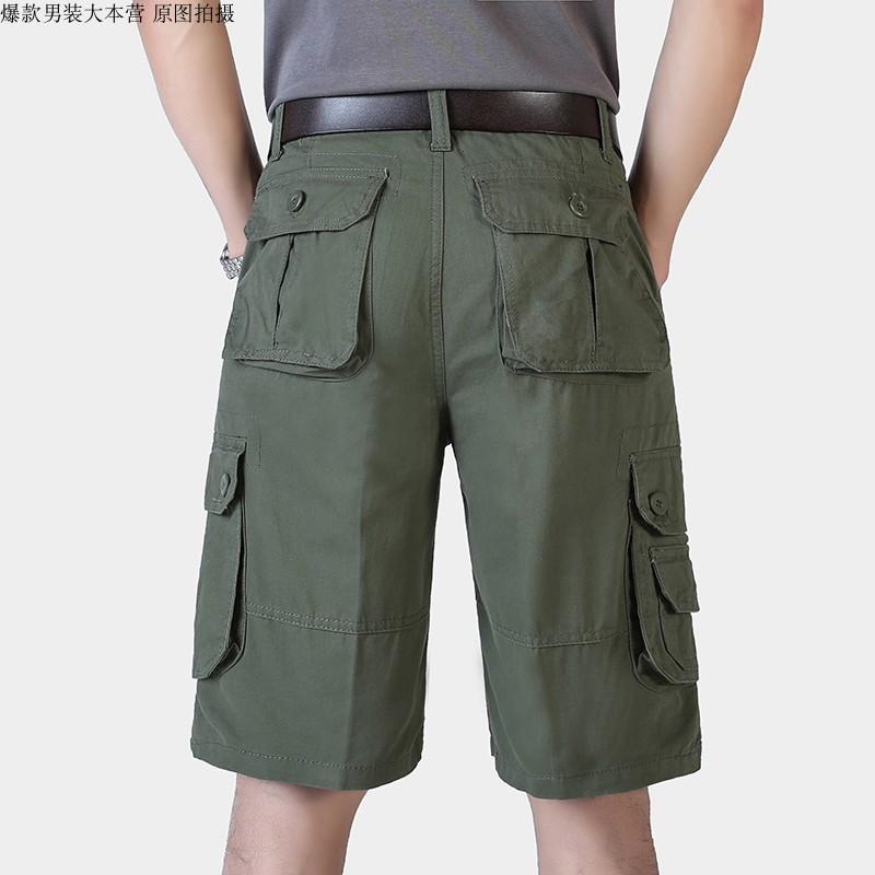 包穿三年耐磨短裤男工装裤五分中裤中老年人马裤爸爸装干活多袋裤