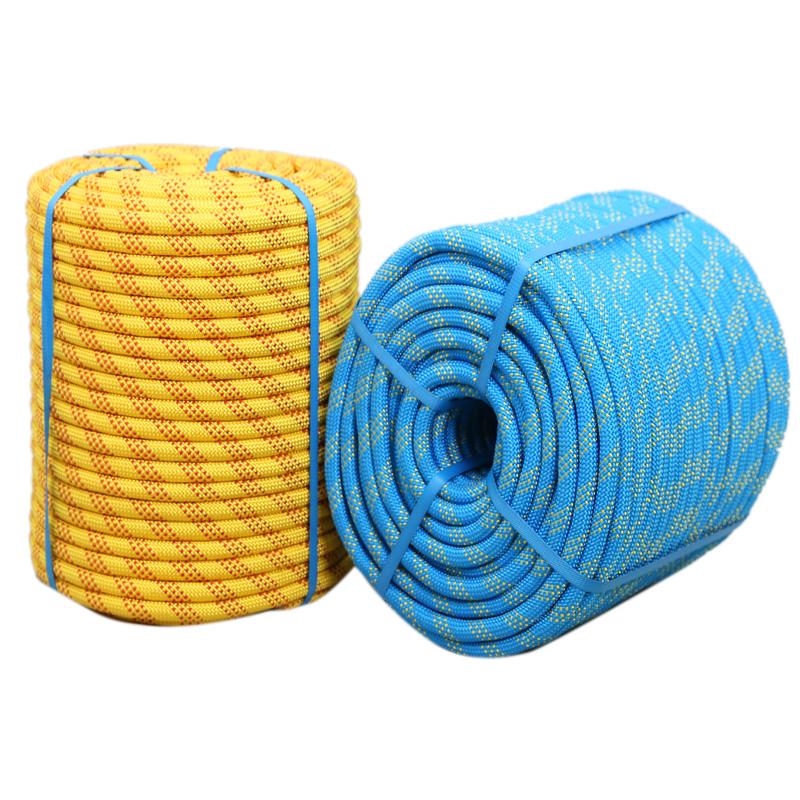 高空作业绳户外安全绳耐磨消防绳逃生绳登山绳攀岩绳尼龙绳静力绳