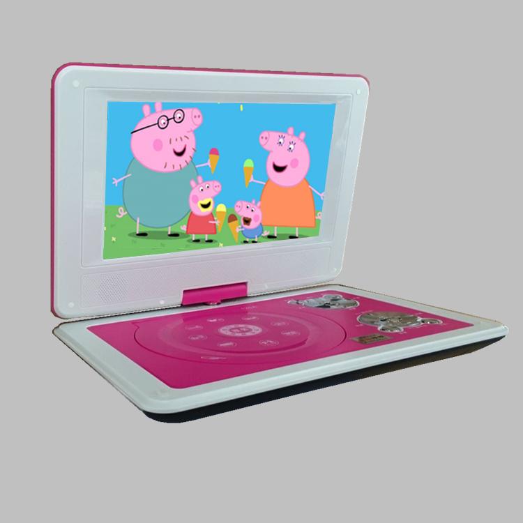 学习放碟片机 evd 儿童影碟机带小电视高清屏幕播放器便携式 dvd 移动