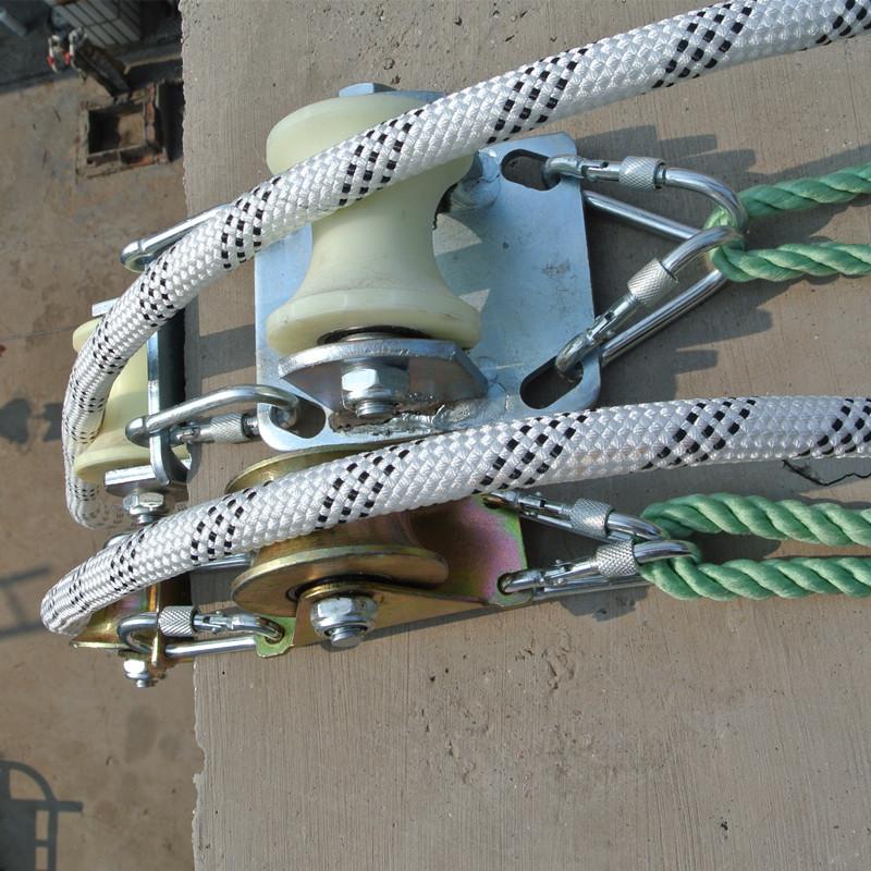 收绳器便携式高空作业外墙清洗简易省力蜘蛛人滑轮放绳器