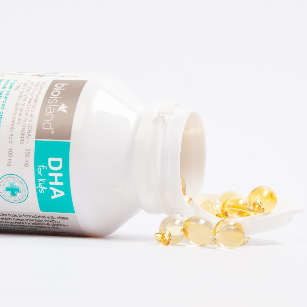 【直营】bio island澳洲进口婴幼儿童dha海藻油健脑护眼胶囊*3