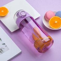 MORITOKU防漏便携手提运动茶水杯子弹跳杯塑料杯随身杯有盖有手柄 (¥78)