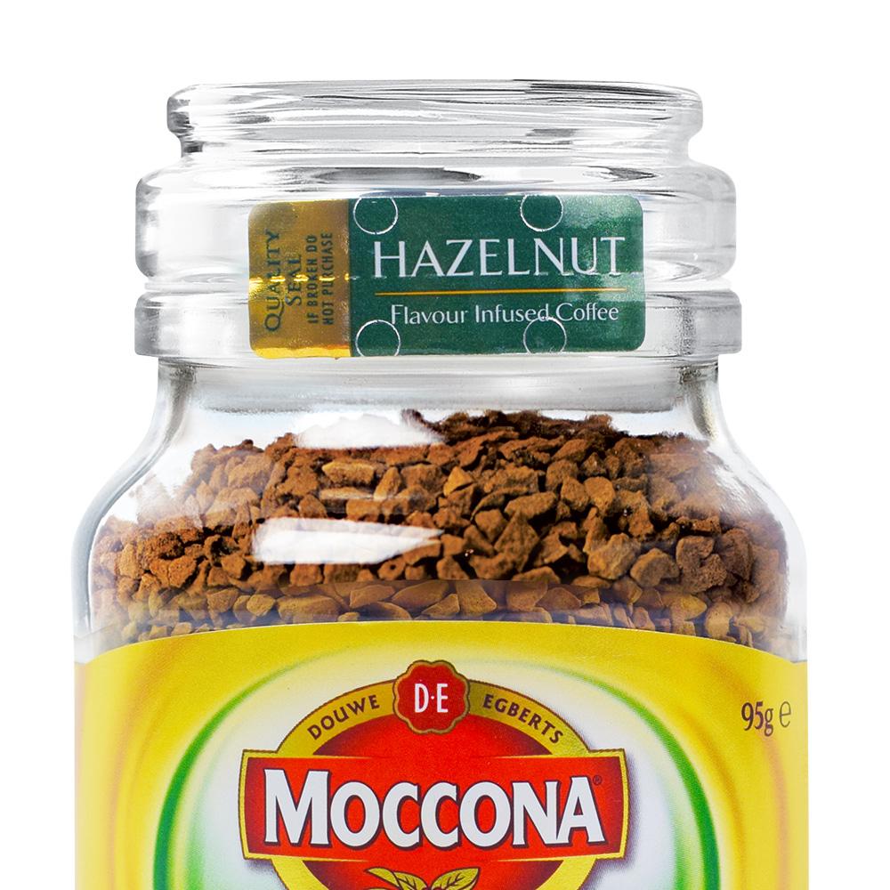 【直营】MOCCONA 摩可纳榛果风味无糖提神冻干纯黑速溶咖啡 95g*2