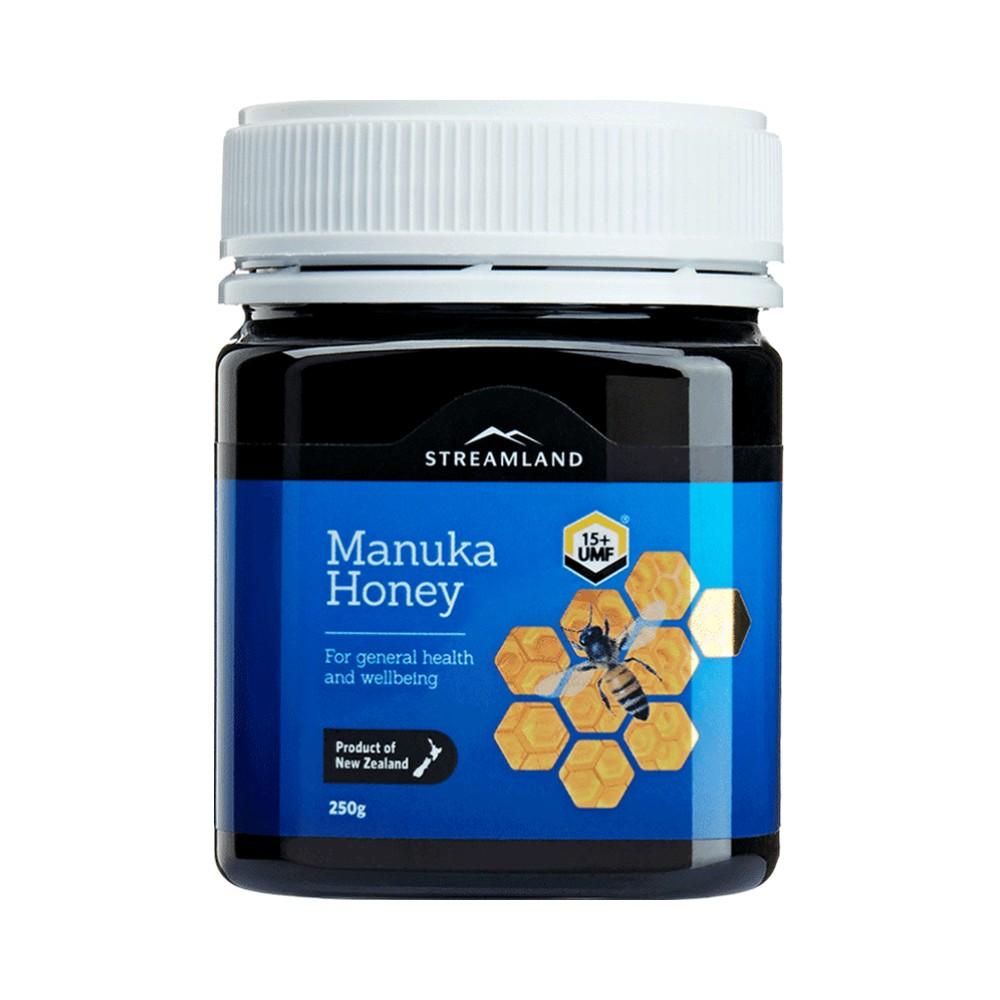 新西兰Streamland进口新溪岛麦卢卡蜂蜜UMF15+结晶蜜养胃全家可用