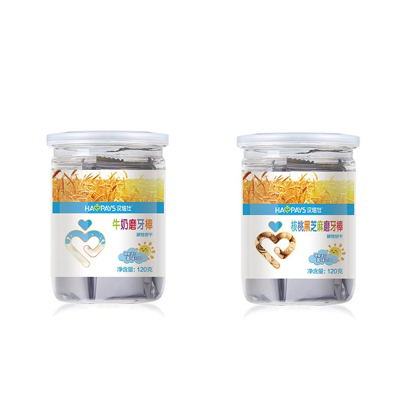 磨牙棒宝宝零食添加 磨牙饼干硬高钙 饼干辅食 汉培仕牛奶磨牙棒