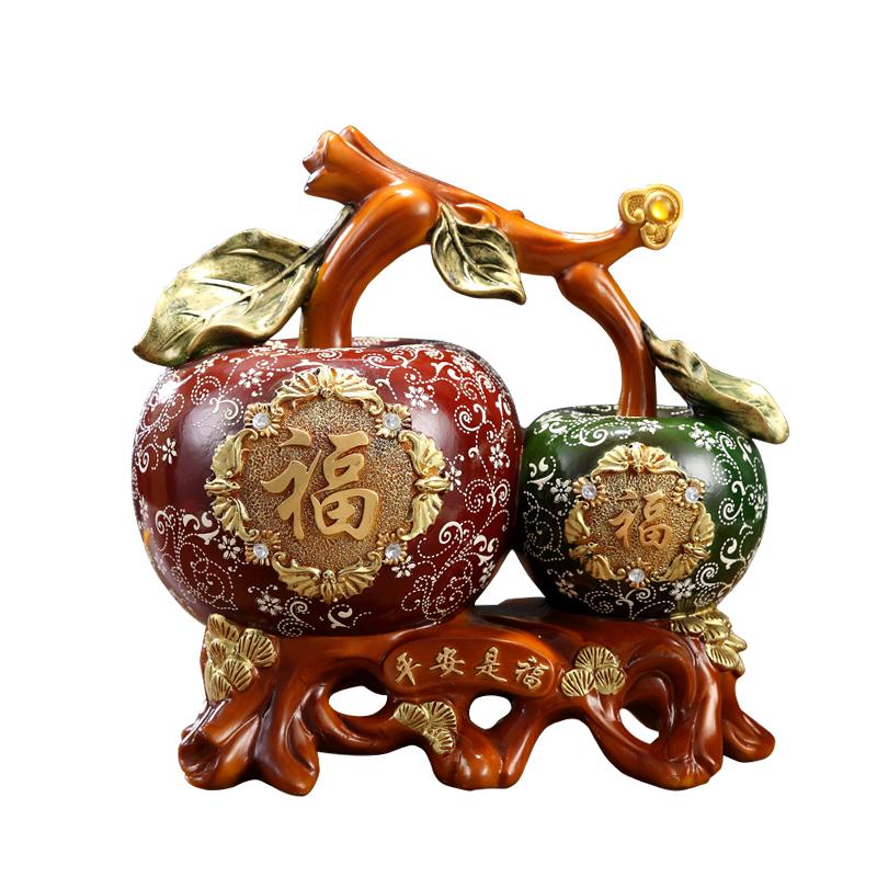 大容量存钱罐可取储蓄罐平安苹果摆件创意客厅玄关酒柜零钱储钱罐