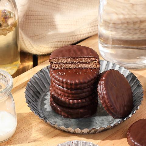 马奇新新马来西亚进口休闲零食巧克力味涂层夹心饼干年货送礼礼包