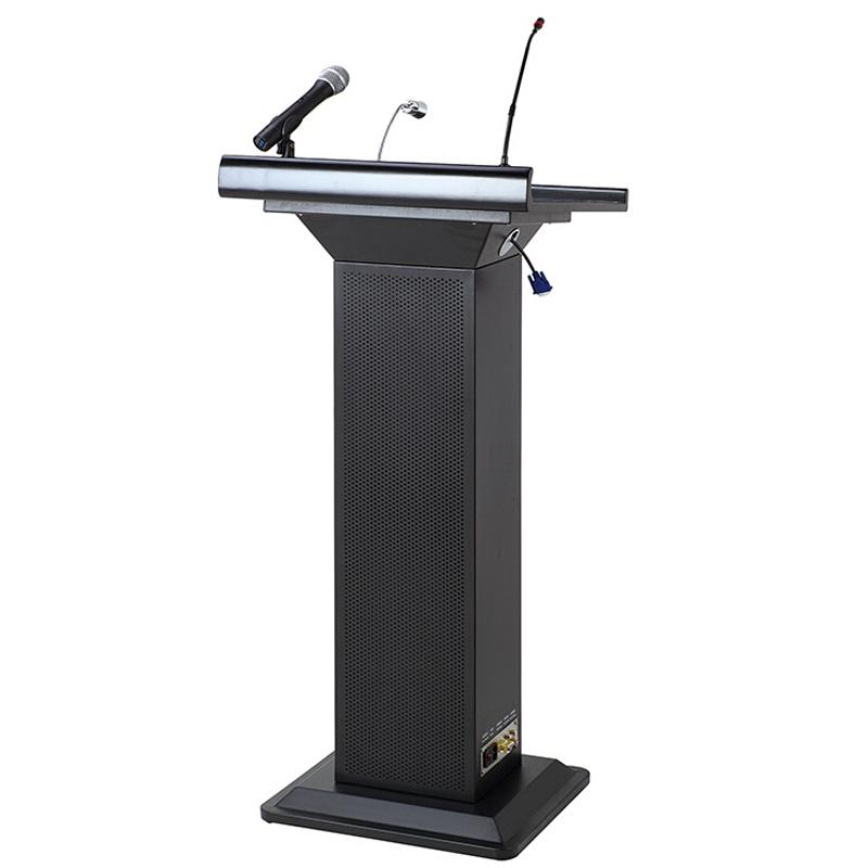 豪华多媒体讲台多功能演讲台发言台讲话台会议室培训桌带话筒音响