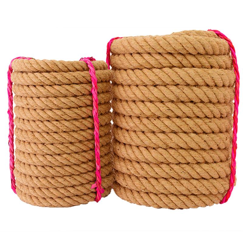 粗麻绳绳子细麻绳耐磨捆绑绳麻绳装饰品手工编织麻绳晾衣绳拔河绳