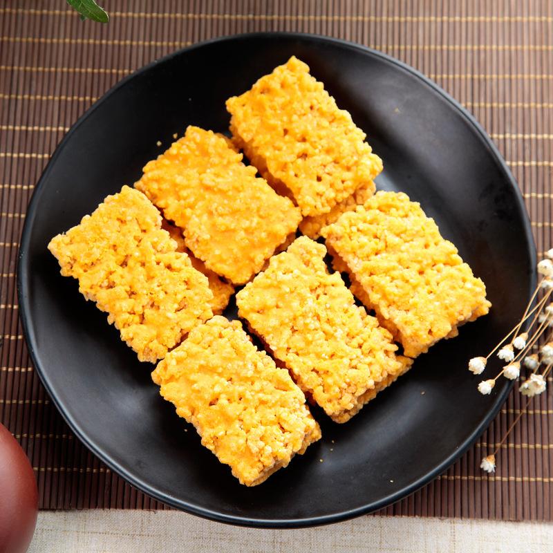 蟹香蛋黄味糯米锅巴蟹黄网红休闲小零食膨化食品团购