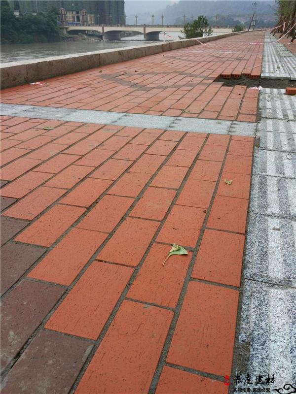 烧结砖 劈开地砖 广场砖 园林砖   地面砖  陶土砖 别墅庭院