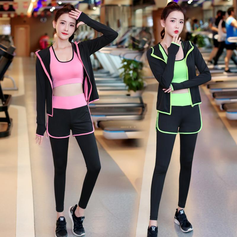 秋季瑜伽服套装女2019新款专业运动跑步健身房初学者速干珈网红夏