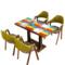 复古咖啡厅桌椅主题西餐厅A字椅子奶茶店甜品店个性桌椅组合定制