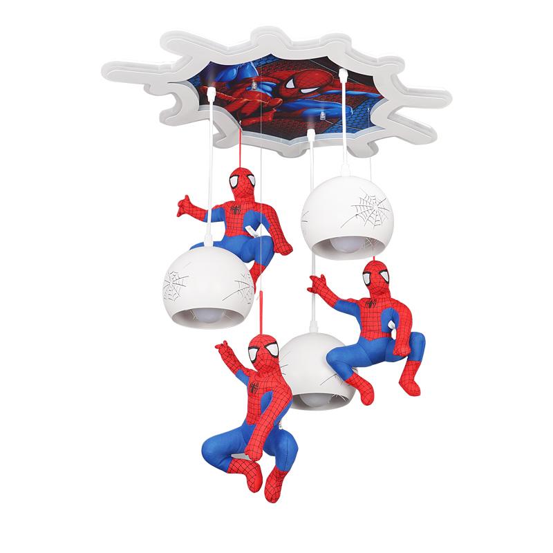 灯具 LED 儿童房灯男孩卧室卡通漫威升级版护眼吸顶 新款蜘蛛侠吊灯