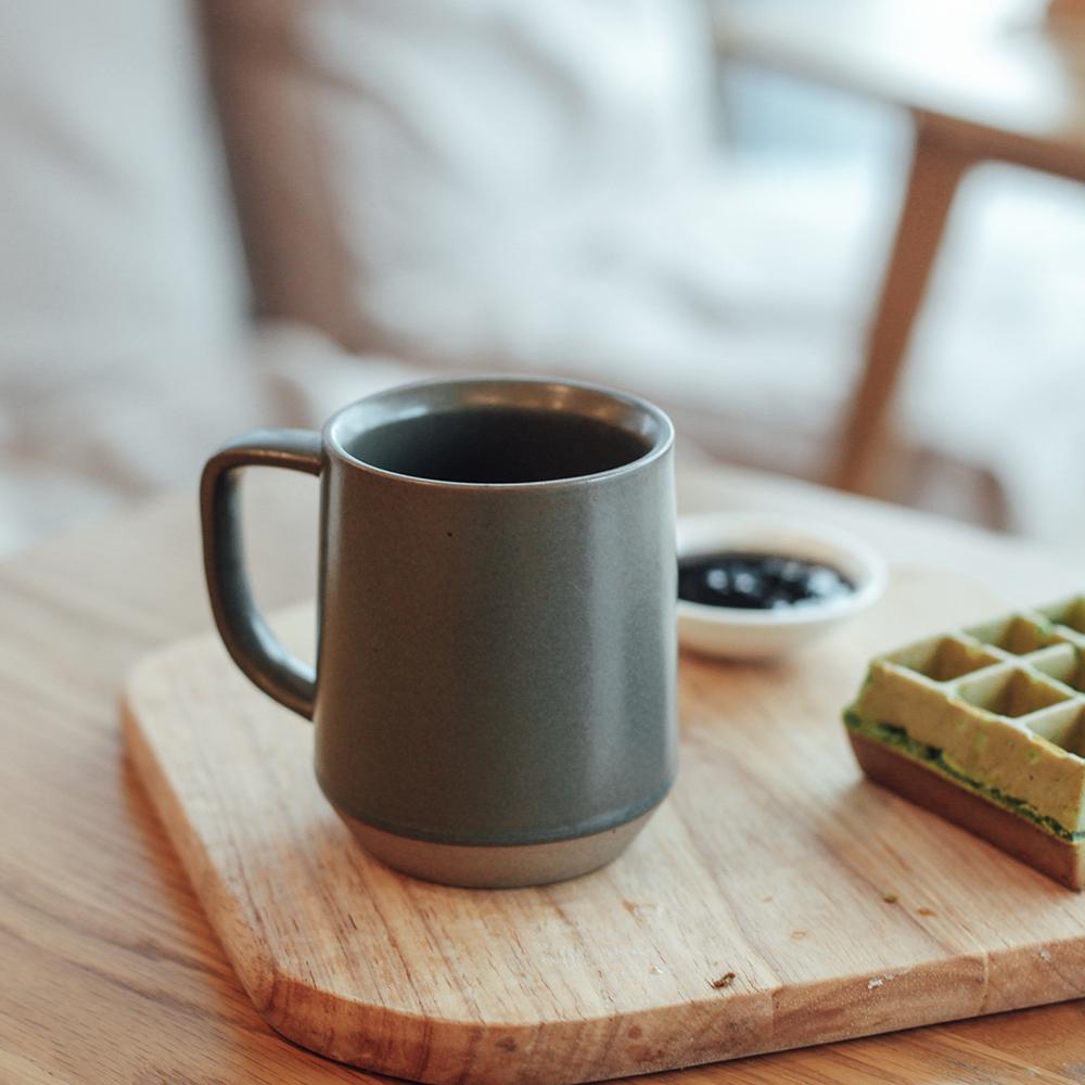 Keep Nature 手工陶瓷咖啡杯馬克杯拿鐵杯 復古雙燒 350ml 雙色選