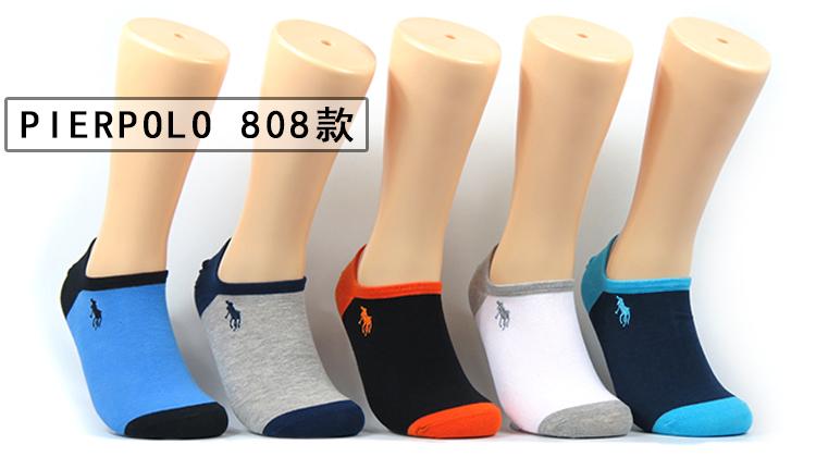 春夏季PIERPOLO保罗袜子男袜短筒正品纯棉防臭运动短袜彩色船袜潮