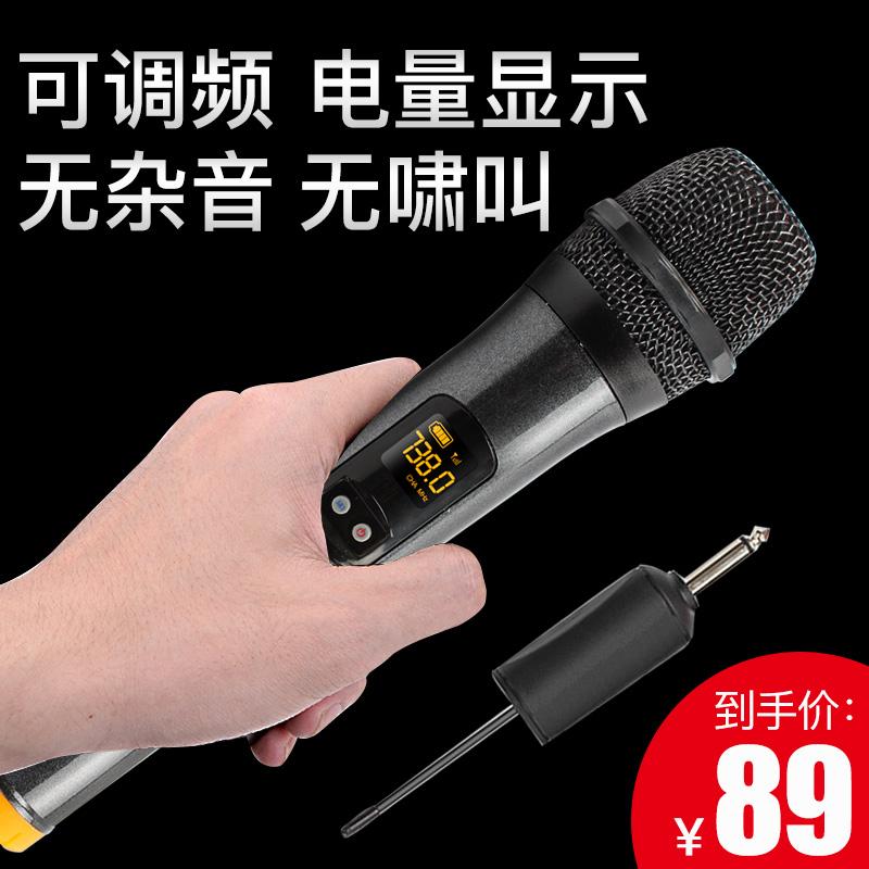 歌充电无线麦克风一拖二双咪 K 无线话筒耳麦带接收器户外舞台音响