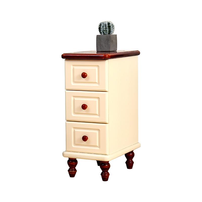 宽小型迷你卧室床边柜夹缝收纳小柜子 25cm 20 欧式超窄实木床头柜