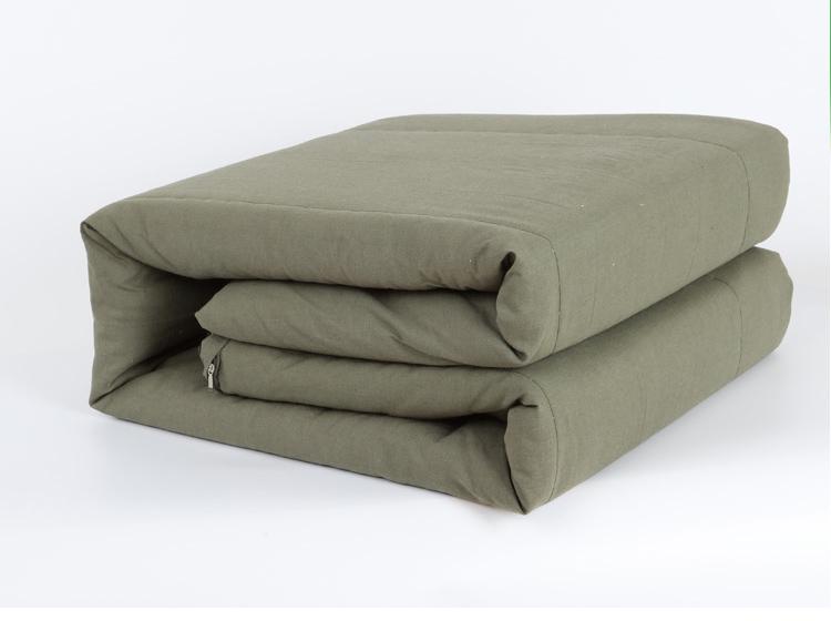 棉被劳保被学生单人宿舍夏季军训内务纯棉花被春秋便宜褥子 军被