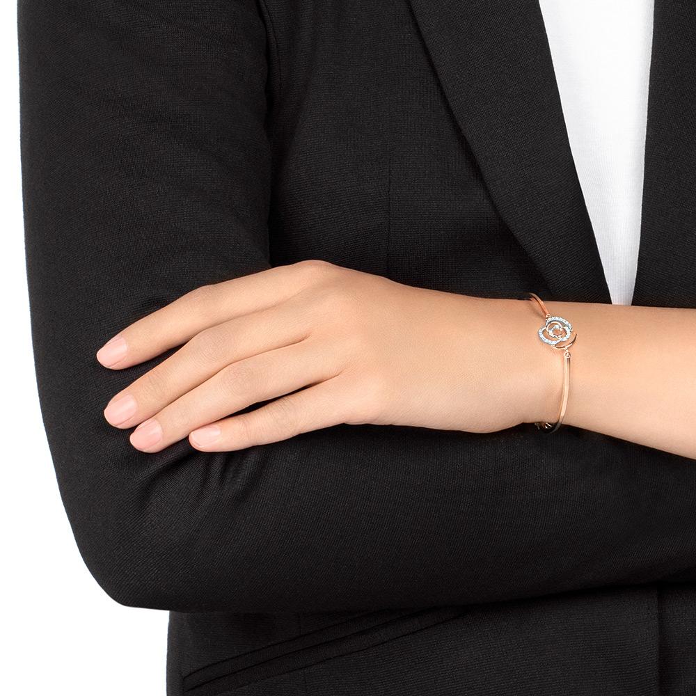 施华洛世奇 ENDEARING 手链女士手镯 玫瑰金 花朵手链