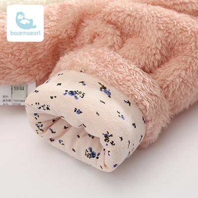 女嬰兒連體衣冬季加厚抱衣夾棉服連腳哈衣寶寶外出保暖新生兒爬服