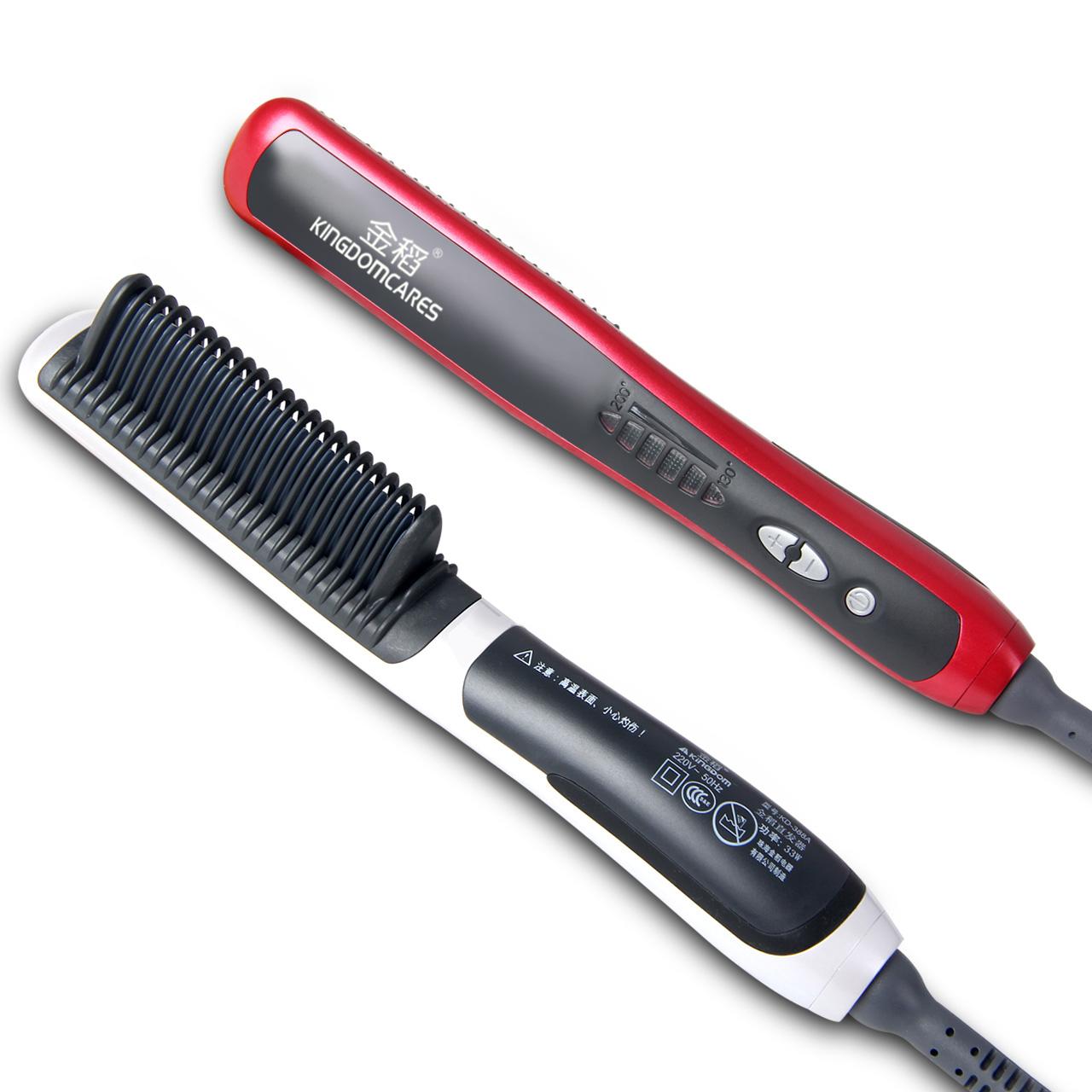 金稻直发梳子神器一梳直发器女夹板拉直卷两用电动烫发懒人卷发棒