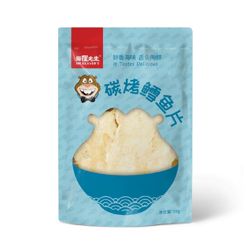 海狸先生烤鳕鱼片58g*1袋即食碳烤蜜汁香鱼片干大连烤鱼片小包装
