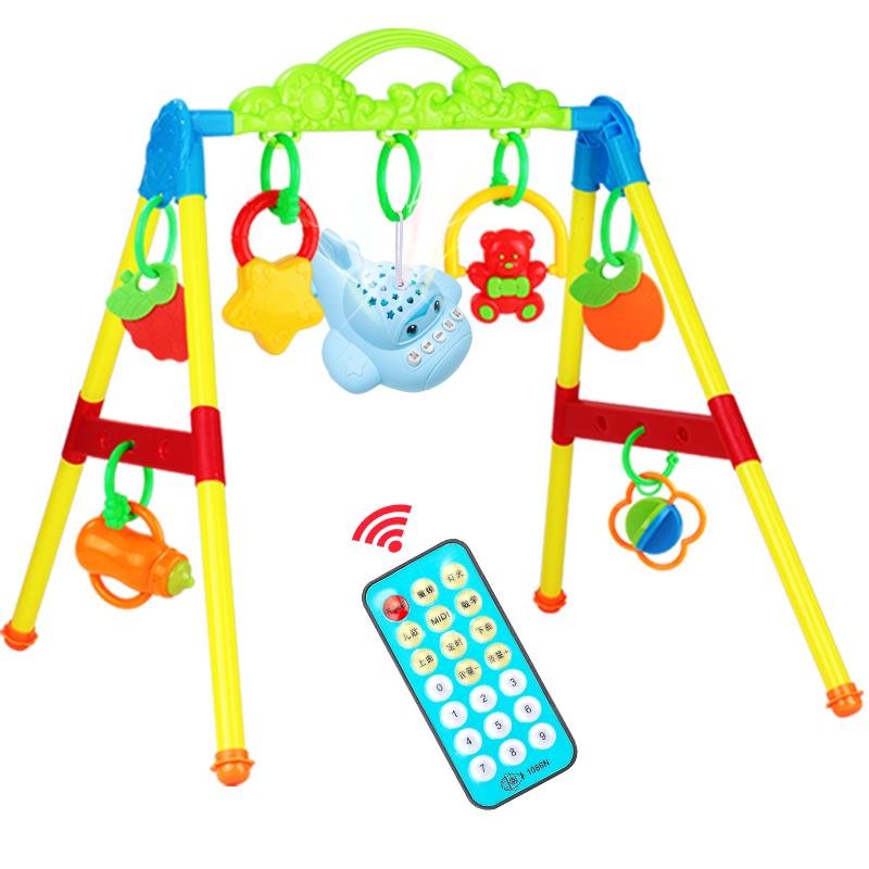 婴儿健身架器玩具新生儿0-1岁宝宝益智带音乐男孩女孩3-6-12个月