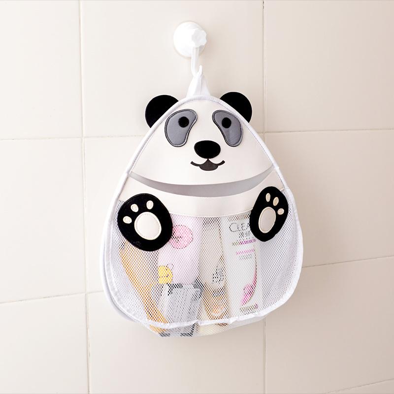 寶寶洗澡玩具洗浴用品收納掛袋可愛兒童卡通浴室收納盒網袋