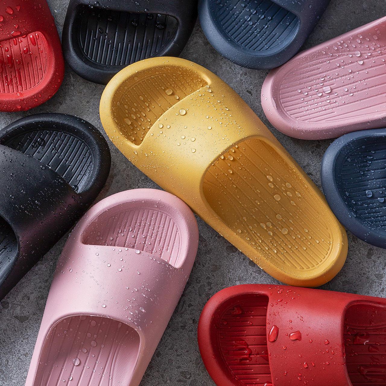 朴西凉拖鞋男家用厚底情侣洗澡软底防滑浴室拖鞋女夏天室内居家