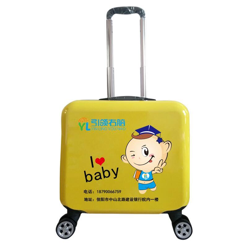 寸男 18 寸订做卡通图案女旅行箱 16 定制儿童拉杆箱 logo 行李箱万向轮