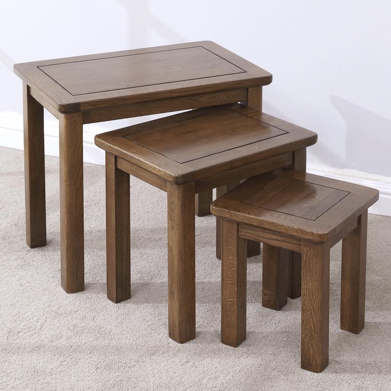 实木套凳家用 美式乡村大中小三套凳儿童套桌特价