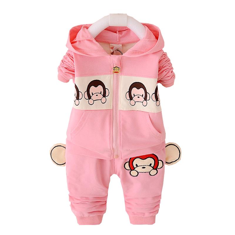 特价童装春秋款男童长袖运动套装女童秋装宝宝两件套0-1-2-3-4岁