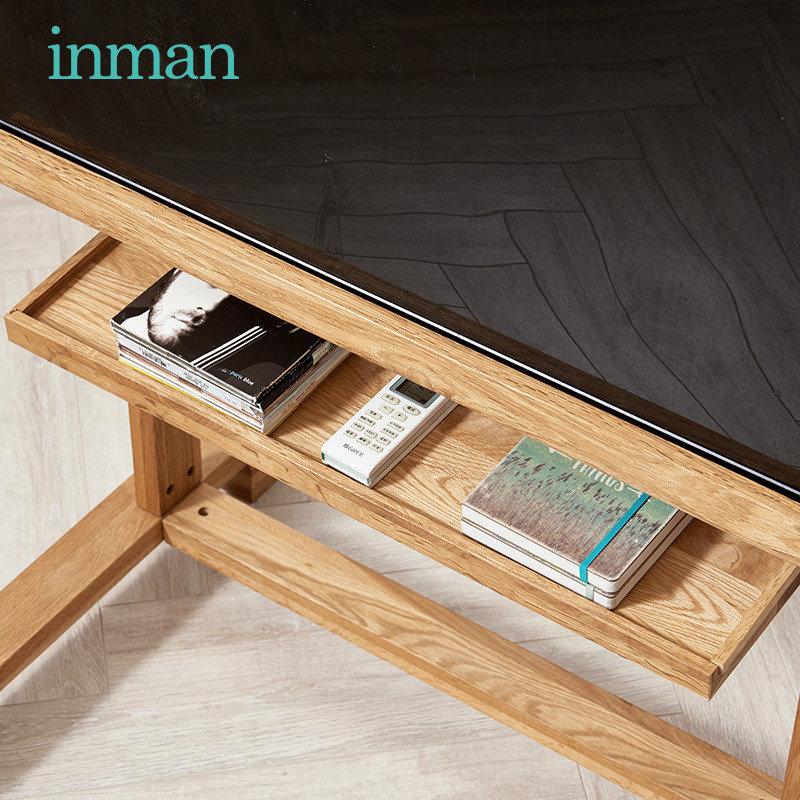 茵曼实木可调节电视机置物架会议室显示器办公室支架电视机架挂架