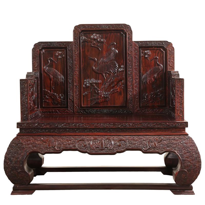 雍尊大款印尼黑酸枝沙发正宗国标红木家具客厅组合阔叶黄檀雕龙