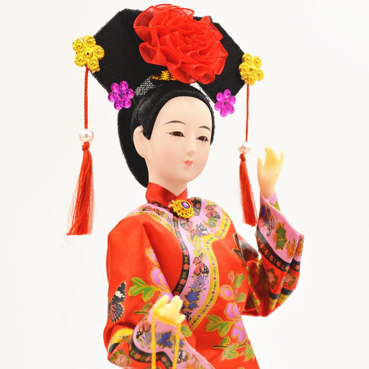 12寸绢人北京礼品民间工艺品京剧脸谱玩偶娟人摆件中国风出国礼品