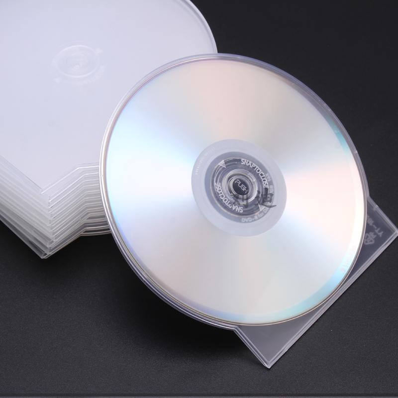 20克左右加厚型 光盘盒 DVD半圆CD盒子CD壳光碟盒 扇形光盘壳 50个/包 包邮