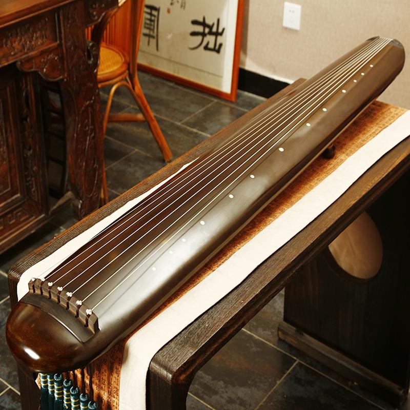 雁悦扬州斫琴老杉木古琴混沌式纯手工初学者入门仲尼式古琴乐器